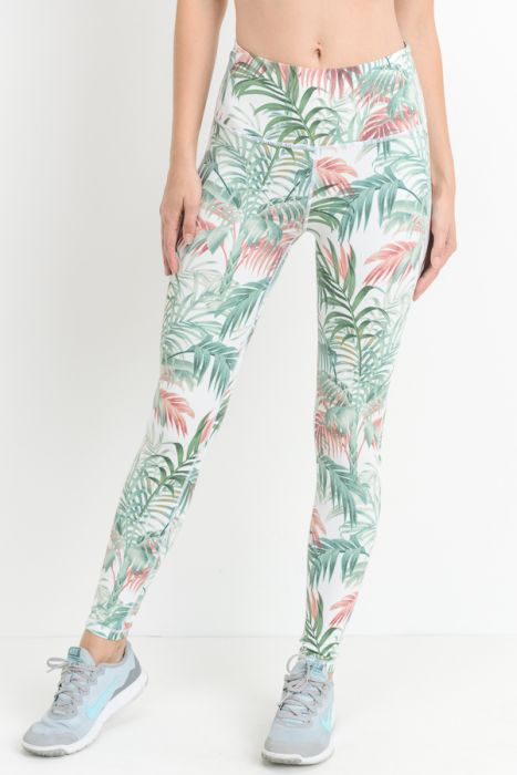Tropical Paradise High Waisted Leggings