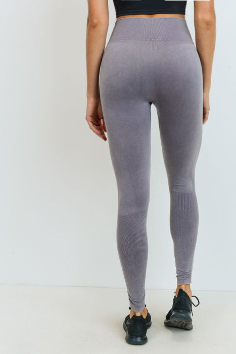 Mauve Seamless Sweetheart Highwaist Leggings