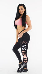 BLACK NO LIMITS LEGGINGS