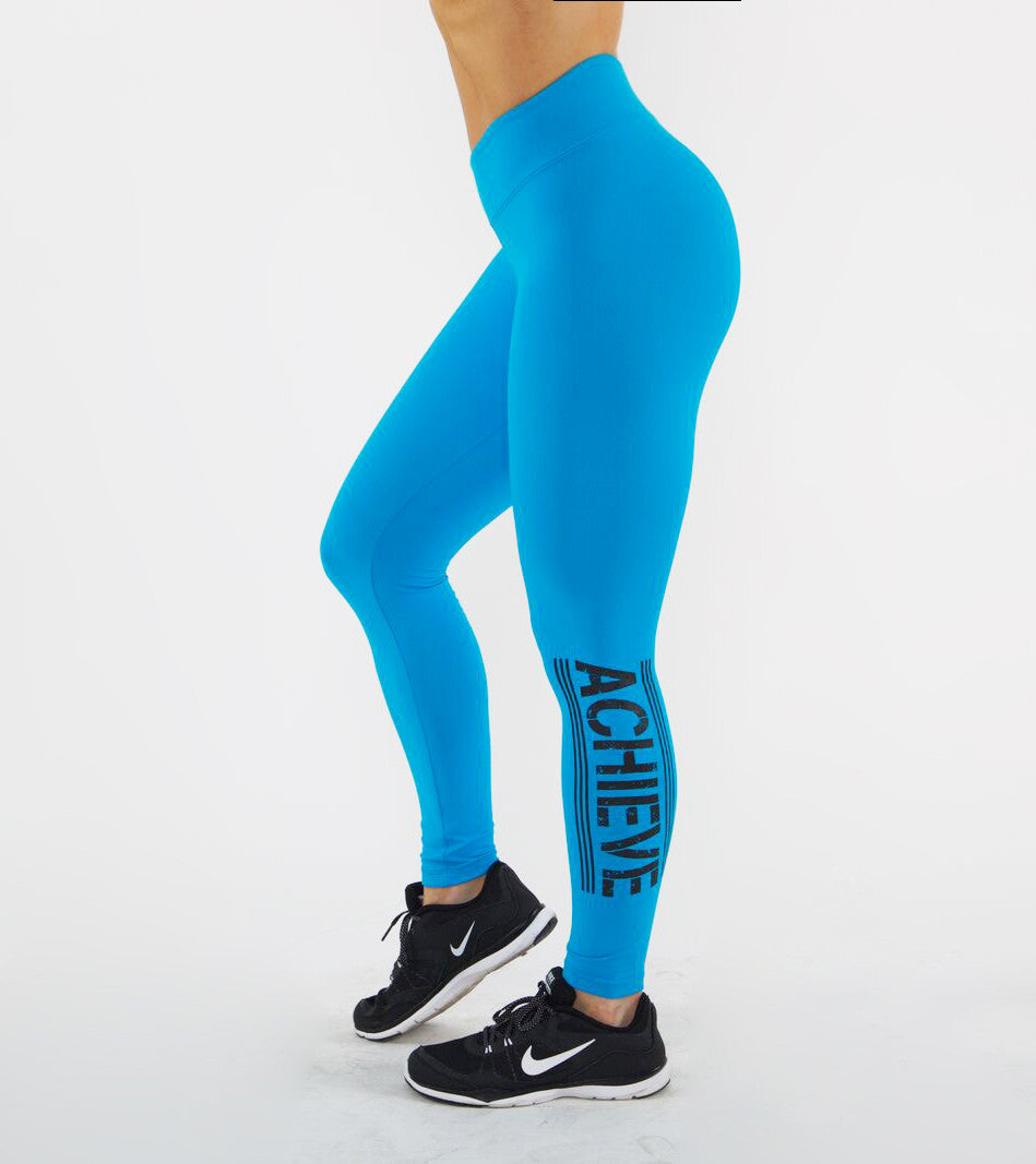 Sky Blue Believe & Achieve Leggings