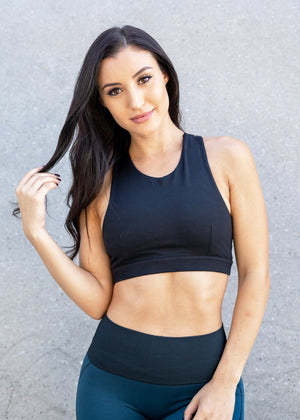 Capri Black Sports Bra