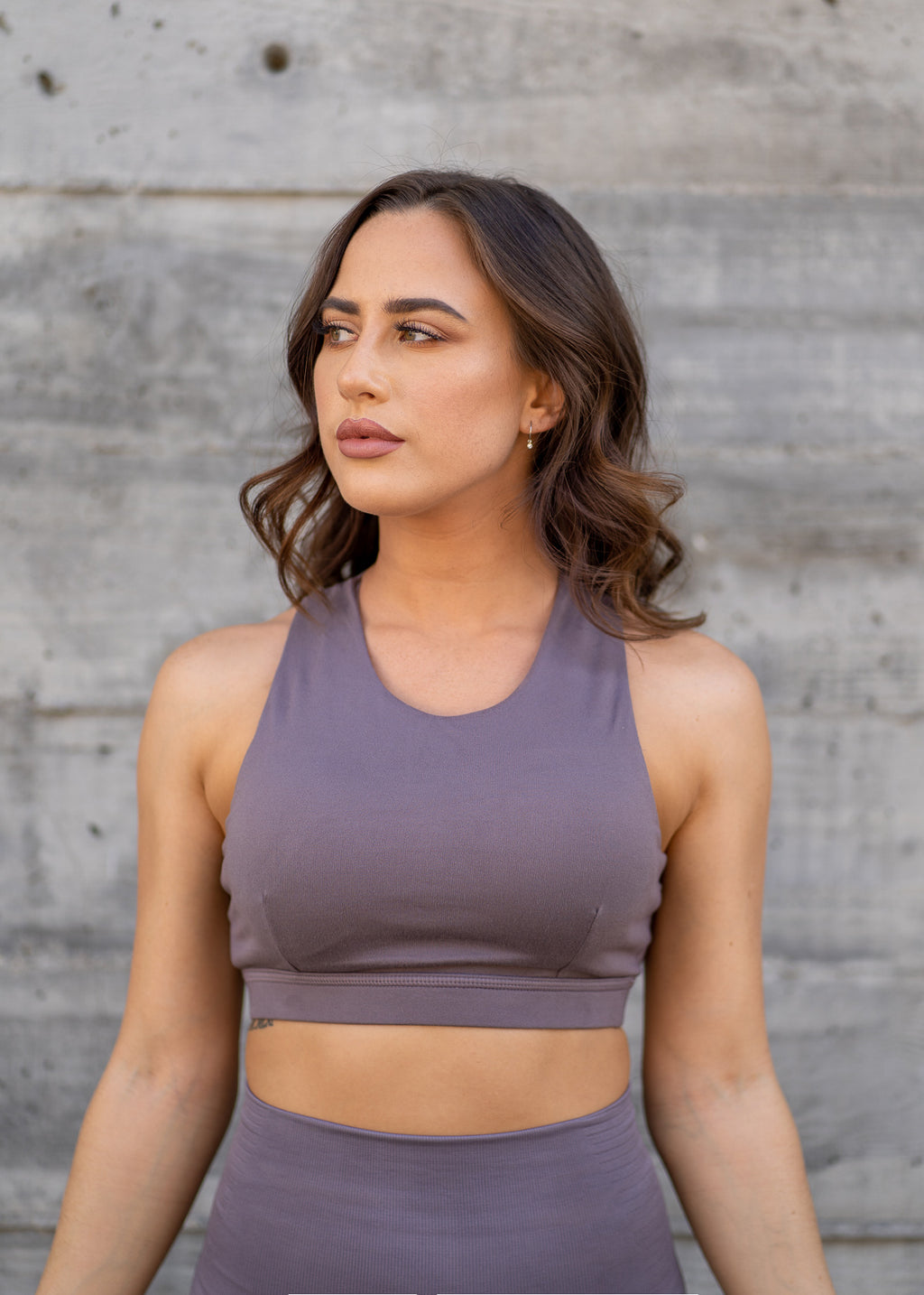 Capri Mauve Sports Bra