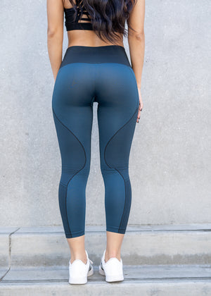 Dion Seamless Teal Highwaisted Leggings