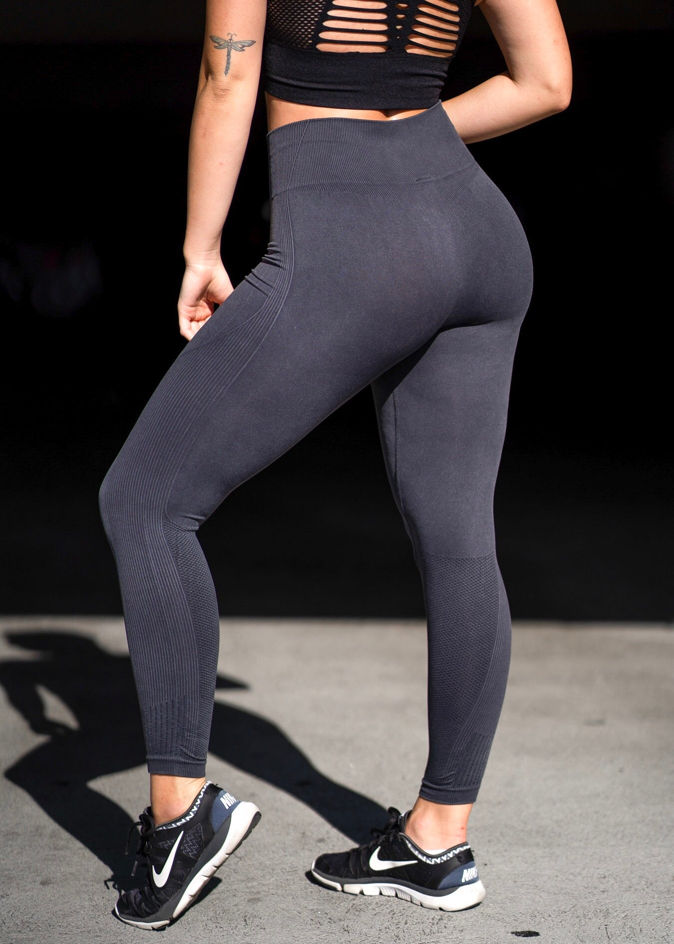 Navy Seamless Sweetheart Highwaist Leggings