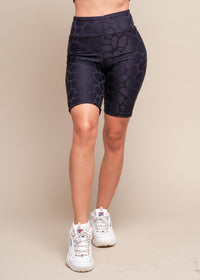 Give Your Self Space To Evolve Black Biker Shorts