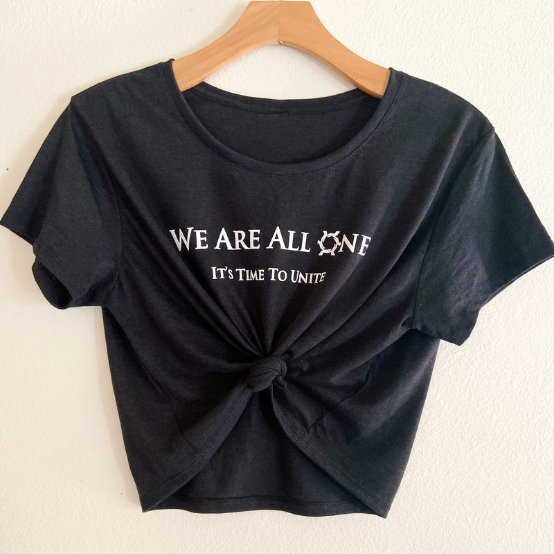 We Are All One Black T-shirt