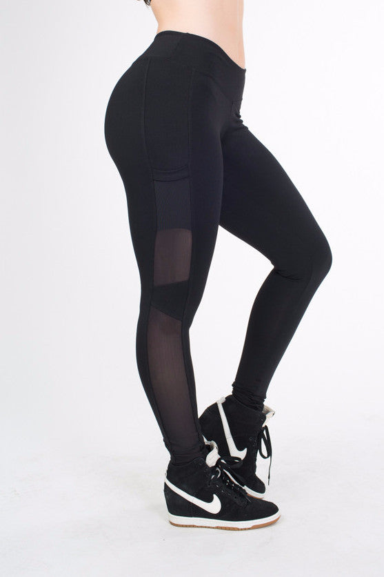 BLACK HYPE SIDE POCKETS LEGGINGS