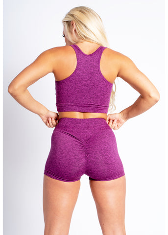 Cosmic Magenta Scrunch Shorts