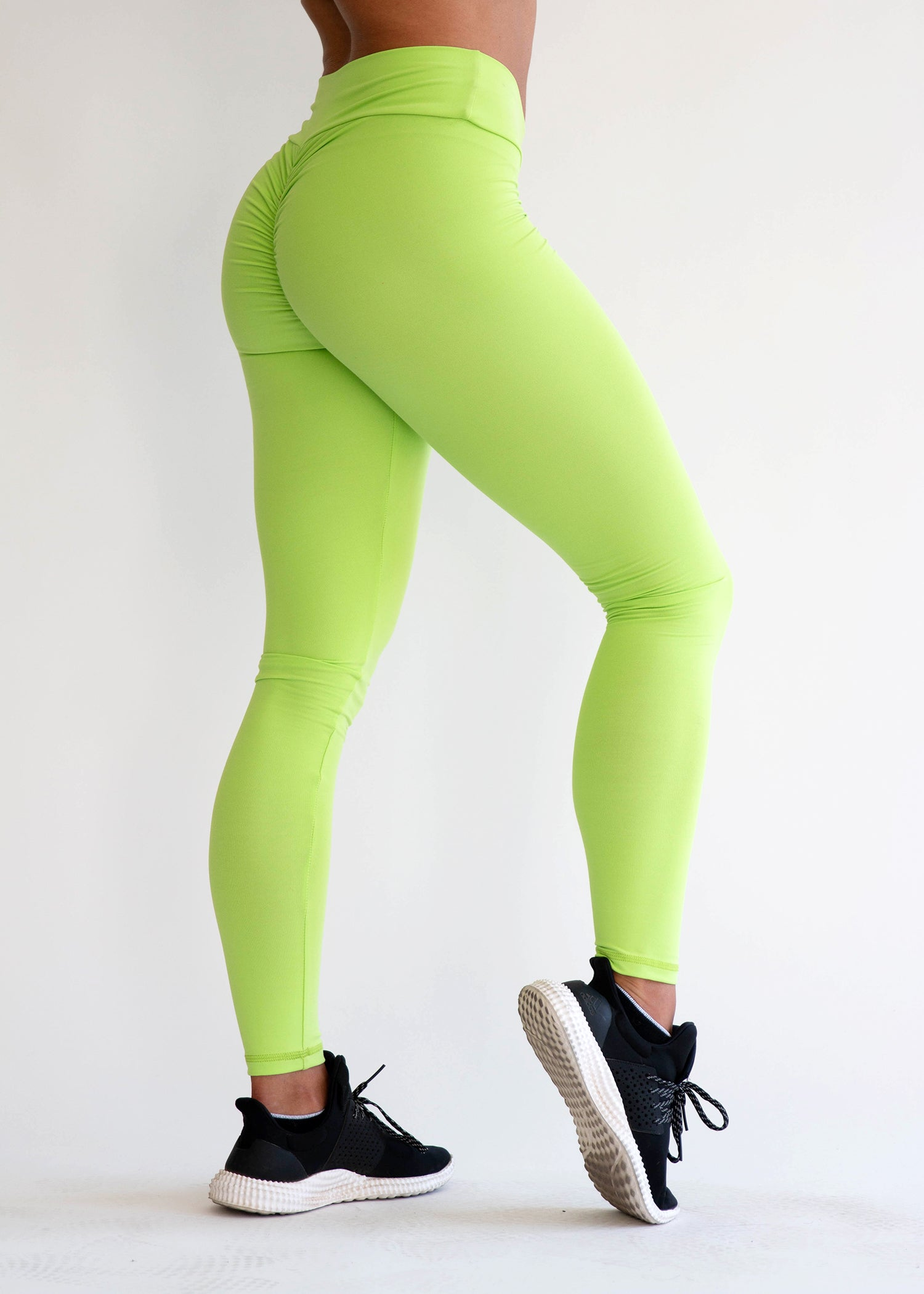 NEON GREEN SCRUNCH BOOTY LIFT LEGGINGS