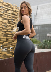 GREY HEART VEGAN BOOTY LEGGINGS