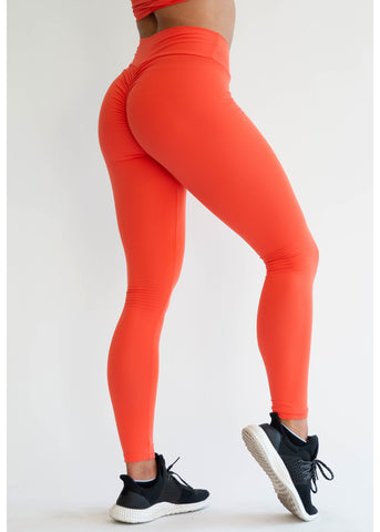 Tangerine Scrunch Push Up Leggings