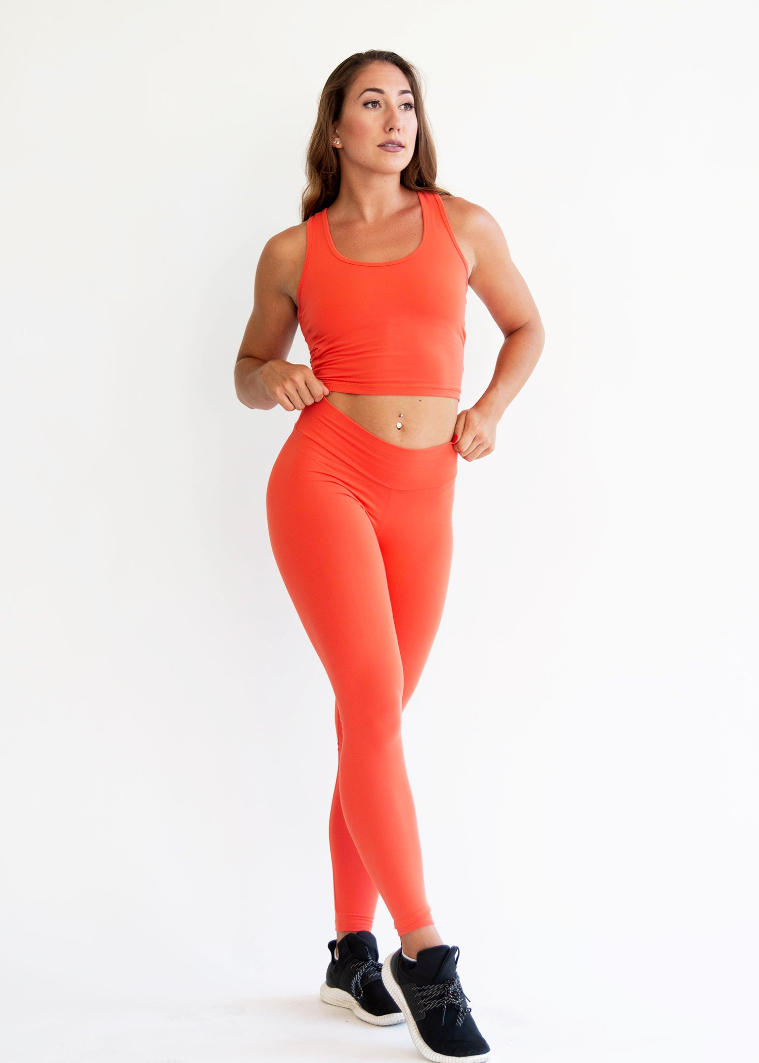 TANGERINE CROP TOP MATCHING SET