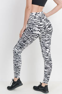 Zebra Printed High Waisted Leggings