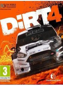 Dirt 4 Official Game Cover Steam CD Key