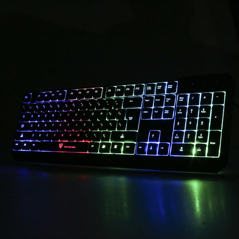 Waterproof MOTOSPEED K70 7 Colors Backlit LED Wired Gaming Keyboard