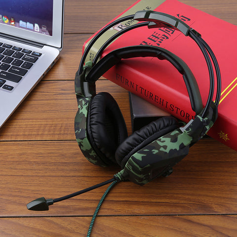 High Quality, SA-931 Universal Stereo Bass, Audio Isolation, Camouflage Gaming Headphones