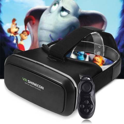 3D VR SHINECON  Virtual Reality Head-Mounted 3D Video Glasses with B100 Bluetooth 3.0 Remote Controller For iOS, Android And PC