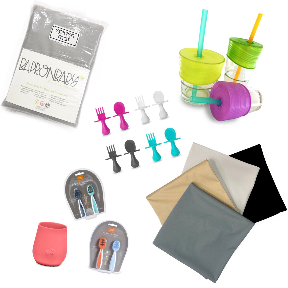 from splash mats to cup toppers, this mealtime favorites collection is an offering of our favorite toddler products for developmentally appropriate mealtime use.