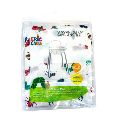 Bug Life Splash Mat - from the World Of Eric Carle - A Waterproof Catch-All for Highchair Spills and More!