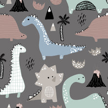 Load image into Gallery viewer, Dinosaur Drawing Splash Mat - A Waterproof Catch-All for Highchair Spills and More!