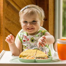 Taco baby Apron for easy mealtime cleanup.
