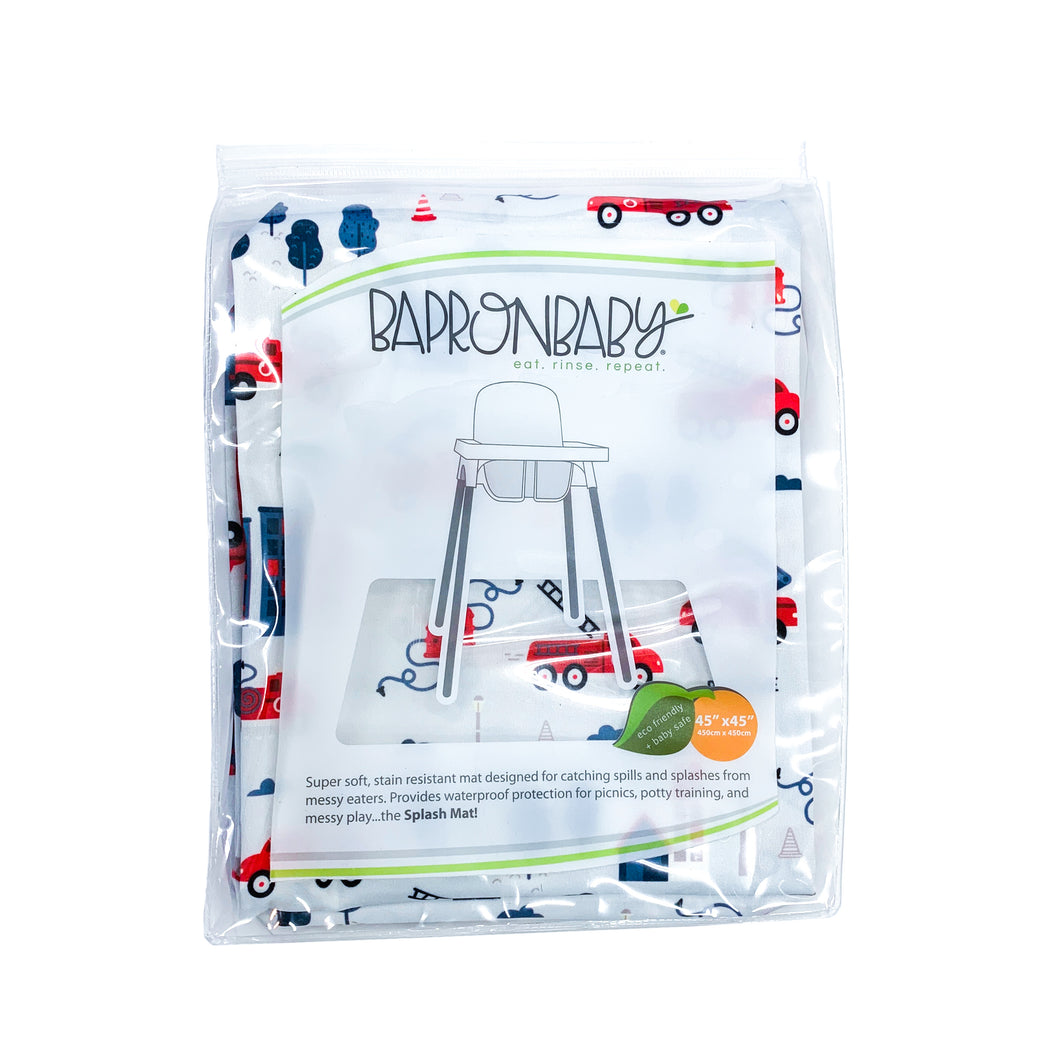 Be Brave - Firefighter Splash Mat - A Waterproof Catch-All for Highchair Spills and More!