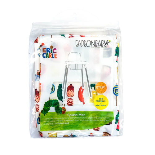 Food Parade Splash Mat - from the World Of Eric Carle - A Waterproof Catch-All for Highchair Spills and More!