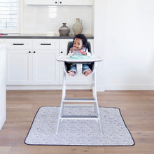 Load image into Gallery viewer, Organic Dot Splash Mat - A Waterproof Catch-All for Highchair Spills and More!