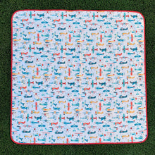 Load image into Gallery viewer, Retro Airplanes Splash Mat - A Waterproof Catch-All for Highchair Spills and More!