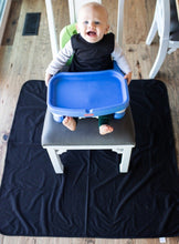 Load image into Gallery viewer, Black Splash Mat - A Waterproof Catch-All for Highchair Spills and More!