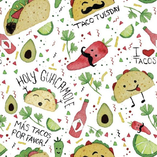 Taco Party Splash Mat - A Waterproof Catch-All for Highchair Spills and More!