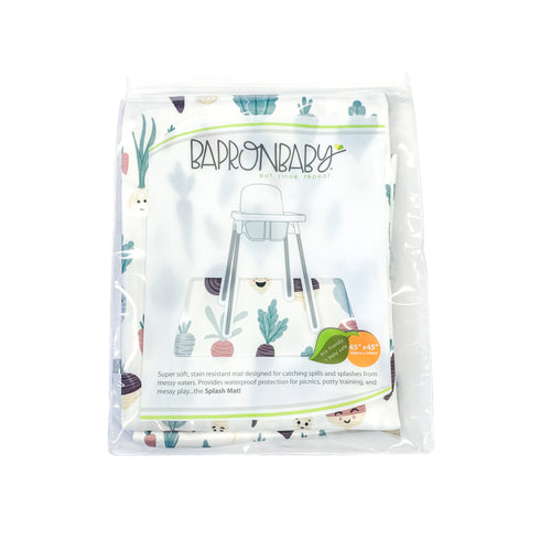 Root Vegetable Splash Mat - A Waterproof Catch-All for Highchair Spills and More!