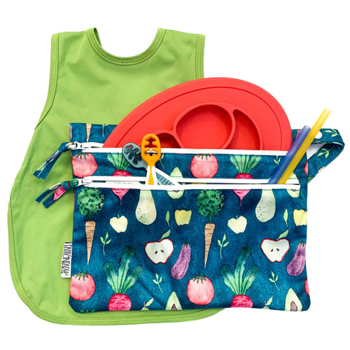 Waterproof Wet Bag (For mealtime, on-the-go, and more!)