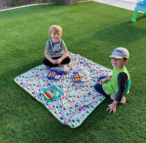 Market Fresh Produce Splash Mat - A Waterproof Catch-All for Highchair Spills and More!