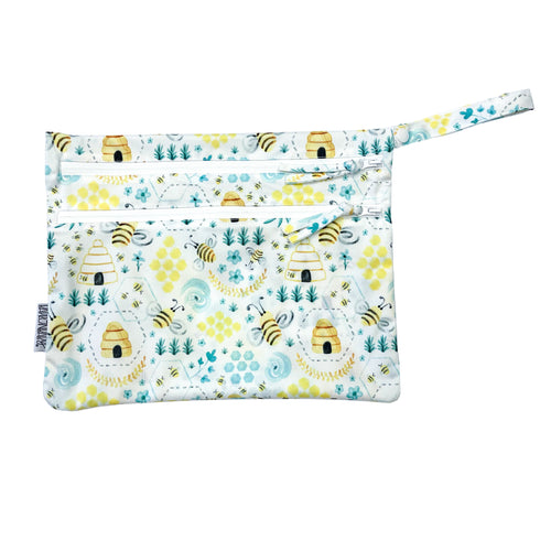Busy Bees - Waterproof Wet Bag (For mealtime, on-the-go, and more!)