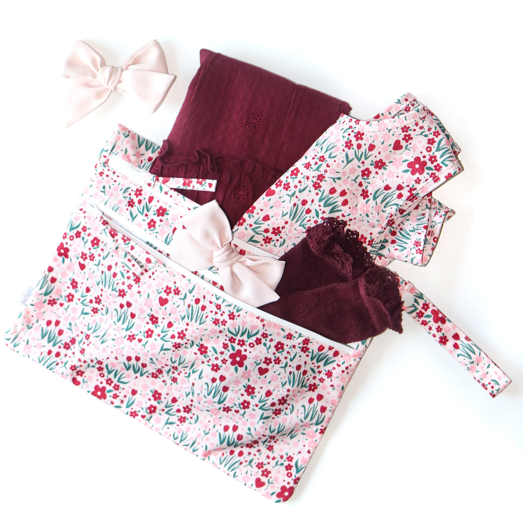 Desert Floral - Waterproof Wet Bag (For mealtime, on-the-go, and more!)