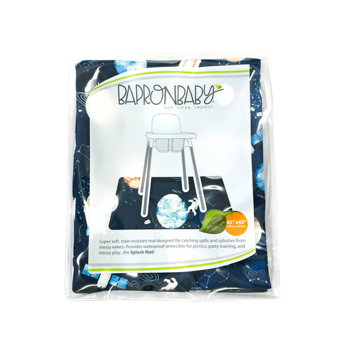 Outer Space Splash Mat - A Waterproof Catch-All for Highchair Spills and More!