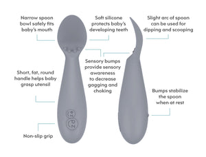 Tiny Spoons (set of 2) - Baby's first spoon for self feeding 4m+