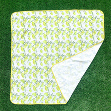 Load image into Gallery viewer, Fresh Squeezed Lemon Splash Mat - A Waterproof Catch-All for Highchair Spills and More!