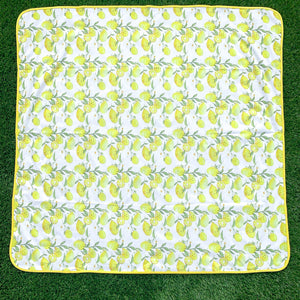 Fresh Squeezed Lemon Splash Mat - A Waterproof Catch-All for Highchair Spills and More!