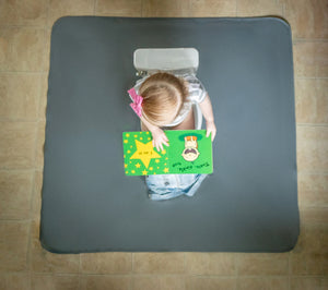 Slate Splash Mat - A Waterproof Catch-All for Highchair Spills and More!