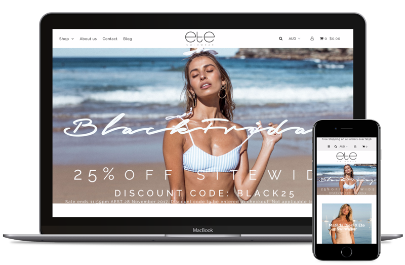 Ete Swimwear | Shopify Development Australia