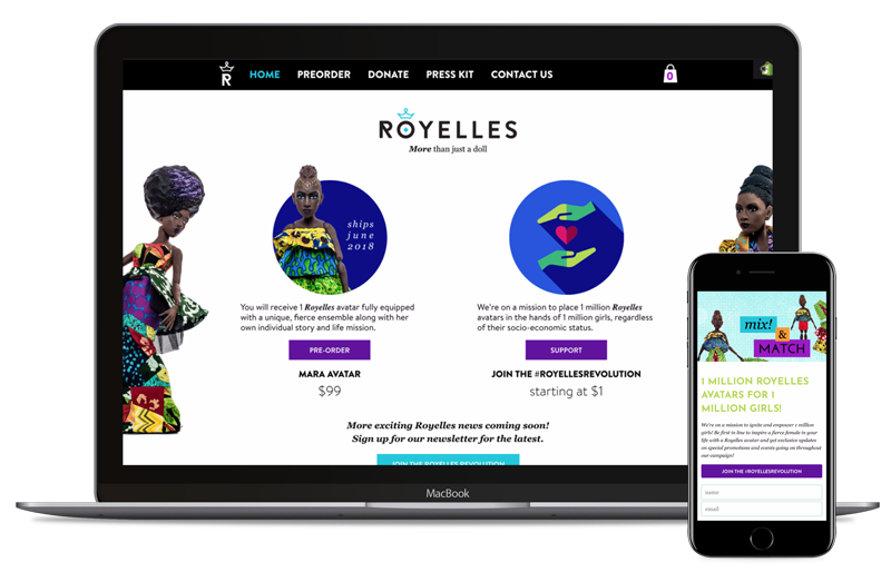 Royelles Dolls | Shopify Development Australia