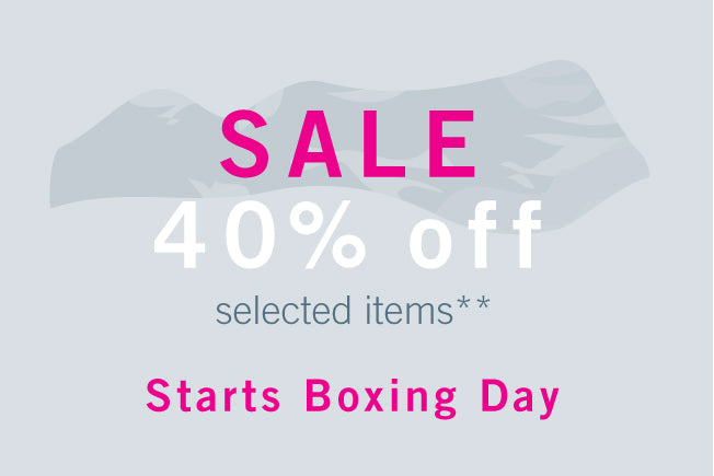 SALE : 40% OFF selected items starts BOXING DAY