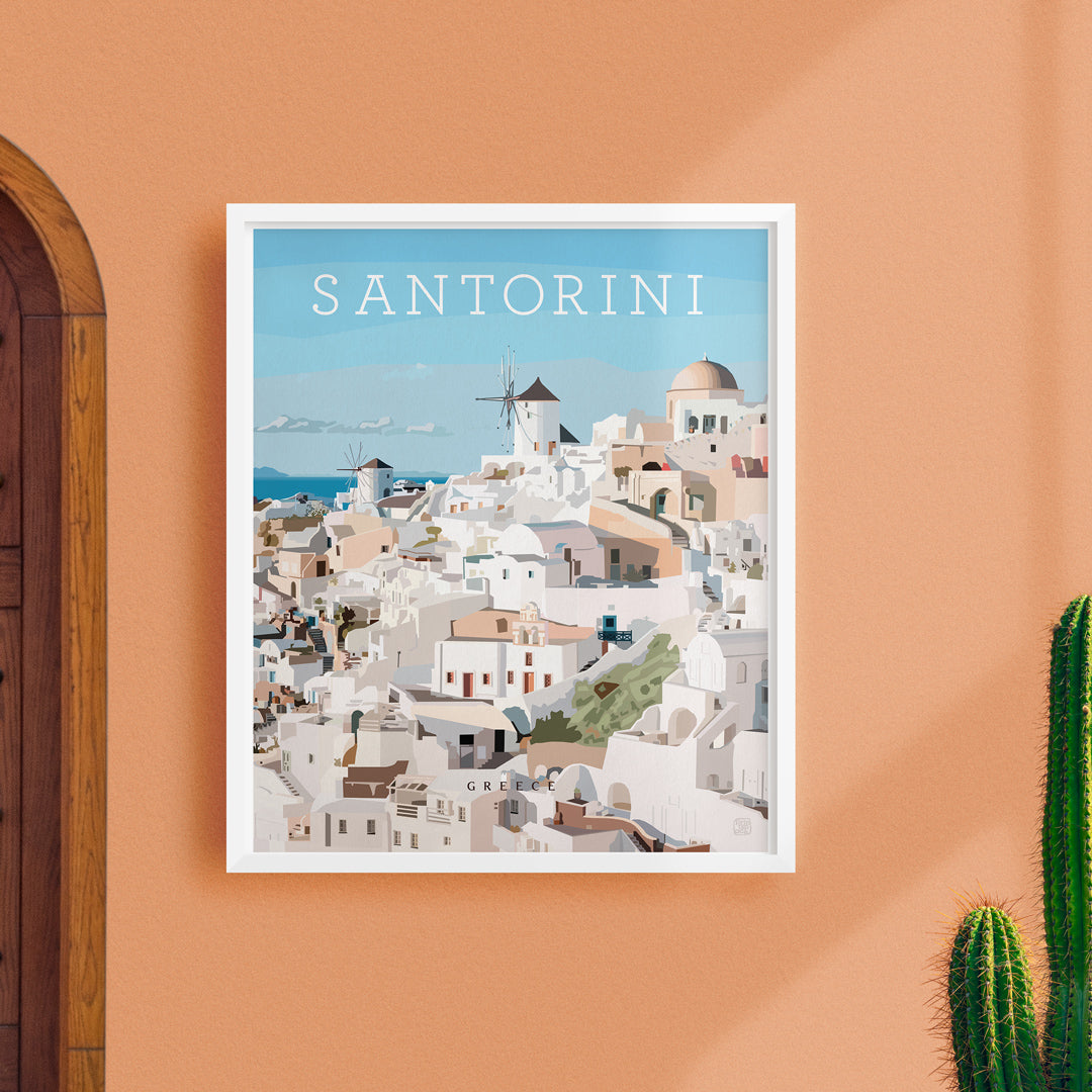 New: Santorini City Print