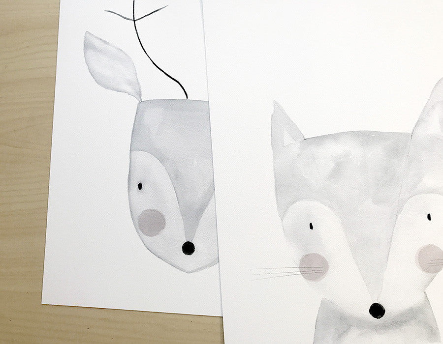 Watercolour Prints for a new Baby's Nursery