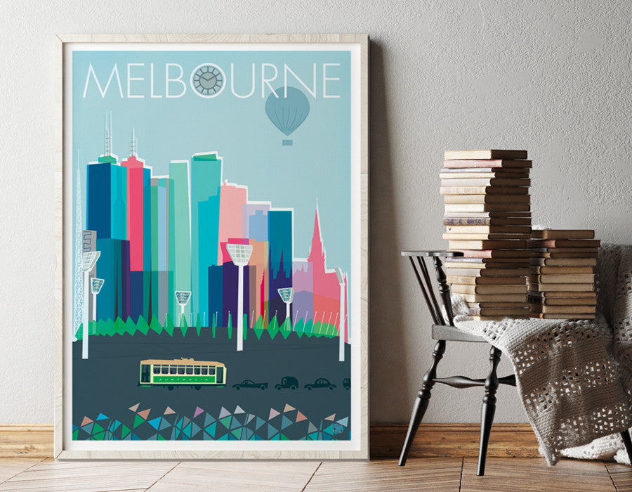 Melbourne city print Nicholas Girling printspace