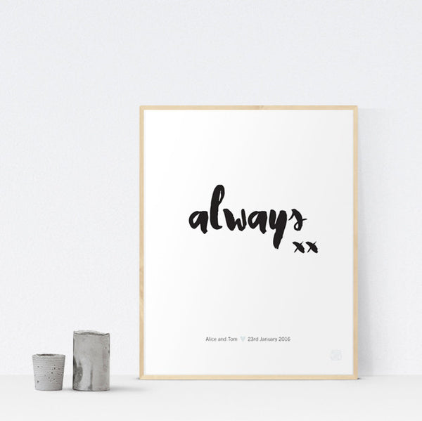 Always Art Print - printspace