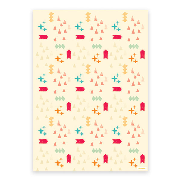 Aztec Wrapping Paper (3 sheets) - printspace