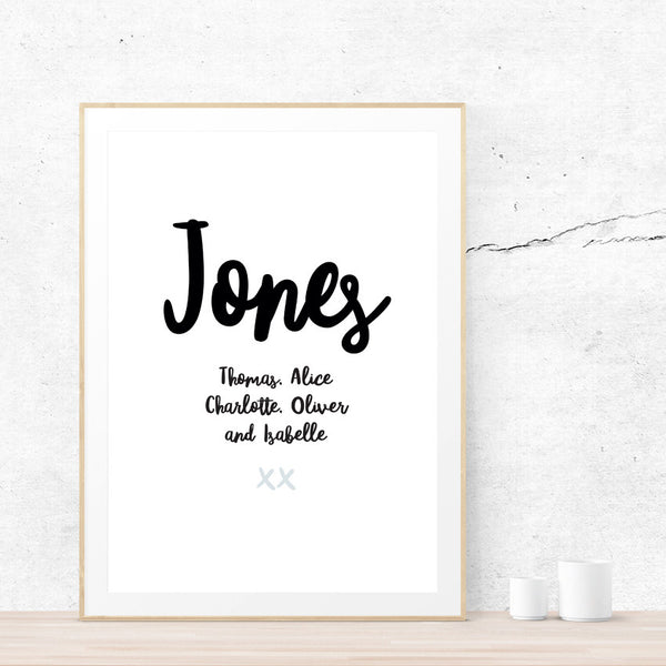 Family Names Art Print - printspace